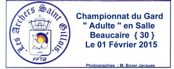Championnat du Gard Adulte en salle Beaucaire le 01/01/2015 (Photos: M. Boyer Jacques)