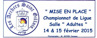 Mise en place Championnat de Ligue Salle Adulte 14 et 15/02/2015 (Photos: M.Jacques Boyer)