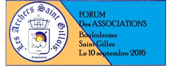 Forum des associations au boulodrome de Saint Gilles le 10/09/2016